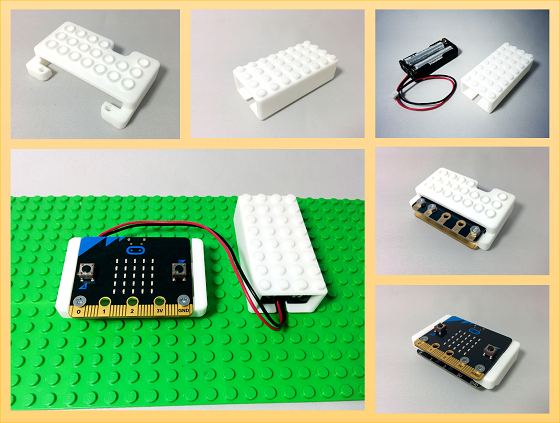 micro:bit & its battery case that connects LEGO